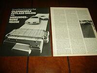 1973 OLDSMOBILE CUTLASS vs. 1973 MERCEDES BENZ 450SE ***ORIGINAL ARTICLE***