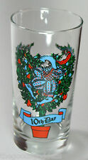 Ten Lords A Leaping Anchor Hocking Glass 10th Tenth Day Christmas 12 Days