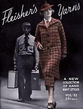 Fleisher's Knitting Pattern Book #32 c.1935 Vintage Fashion Patterns