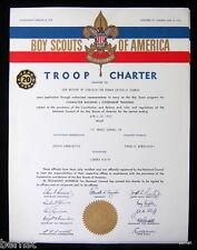 1963 BOY SCOUT - TROOP CHARTER - TROOP 161- MOUNT CARMEL, PENNSYLVANIA