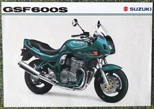 SUZUKI GSF 600 S BANDIT MOTORCYCLE SALES SHEET CIRCA 1998
