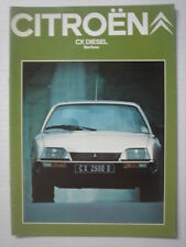 CITROËN  CX Diesel Berlines  catalogue/brochure/Prospekt  1981.
