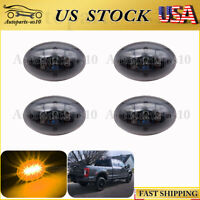 4x Smoke Amber LED Dually Bed Fender Rear Side Marker Light 99-10 Ford F350 F450