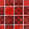 Glasmosaik rot Zementoptik Bad WC Küche Wand Fliesenspiegel WB78B-0902 1 Matte