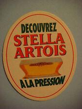 Beer Coastern <> STELLA ARTOIS A La Pression ~ See STORE for 1000s More Coasters