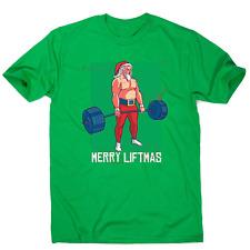 Merry liftmas funny gym Christmas t-shirt men's
