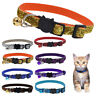 1PC Cat Puppy Collar with Bell Glitter Adjustable Breakaway Safe Kitty Buckle