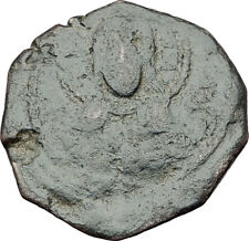 CRUSADERS Antioch Tancred Ancient 1101AD Byzantine Time Coin CHRIST CROSS i65377