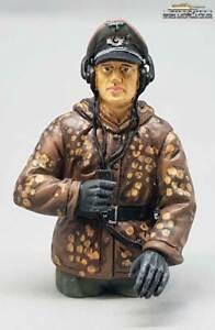 Figur deutsche Panzer Mannschaft Wehrmacht Erbsentarn Halbfigur Kommandant 1:16