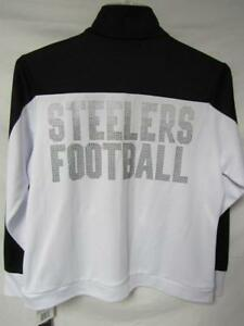 Pittsburgh Steelers Womens Large Lightweight Jacket with Rhinestones B1 262