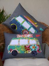 Free Campin Cushion PATTERN - Claire Turpin - Combi Van Applique Cushion Pattern
