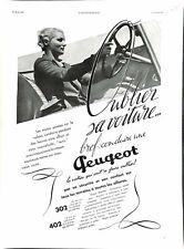 Publicité Automobile Peugeot 302 402 voiture auto Parfums Madame peau fine 1937