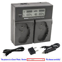 Kastar Battery LCD Dual Fast Charger for Nikon Genuine OriginaL EN-EL18b MH-26