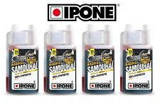 Promo 4 Bidons Huile IPONE SAMOURAI Bidon 4L 2T 100% synthetique 2 Temps litres