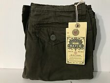 Match Men's Twill Cargo Shorts - Army Green - Size US 30... NEW with tags