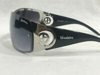 Verdster D1005 Womens Shield Sunglasses Silver Frames Gray Gradient Lenses