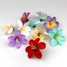 50Pcs Lot Fake Small Lily Artificial Silk Flower Heads Craft Wedding Decor Craft