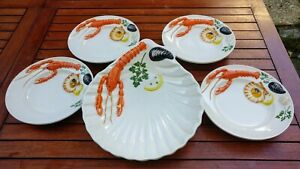 Service 4 Person To Fruit Sea, Crustacean Years 50 Italian Trunk the Eye