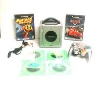 Nintendo Game Cube Bundle + 3 Games + Silver Console + 1 Controller PreOwned