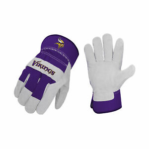 Minnesota Vikings Work Gloves Work Glove NFL Football Suede