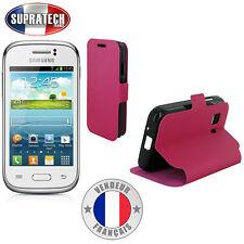 Etui Rabattable Fuchsia Avec Support pour Samsung Galaxy Young 2 G130