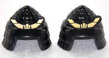 2x Samurai Casco Negro Oro PLAYMOBIL para Guerrero ASIA Caballero Dragón Ninja