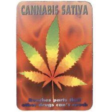 CANNABIS SATIVA - Drug Peace Spliff - Aufkleber Sticker - Neu