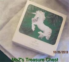 "1983 Hallmark ""Unicorn"" Handpainted Fine Porcelain Ornament    ** NIB **"