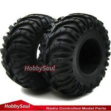 2pcs RC Rock Crawler 2.2'' Tires Tyres W/ Foam Fit RC 2.2 Beadlock Rims Wheel