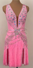 L1328 ballroom swing Ramba Latin/Rhythm Samba US 8 Dance Dress fringes