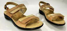 SAS Womens Sandal Shoe Brown 7.5 Hook & Loop Strap Open Toe Tripad Comfort