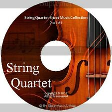 Massive Professional String Quartet Sheet Music Collection Archive Library DVD