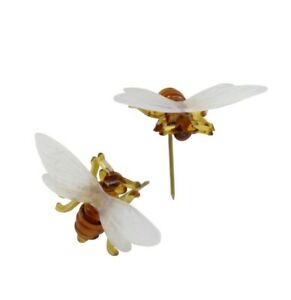 Plastic Bee Pins, Candle Decoration, Craft & Cake Making, Packs of 100