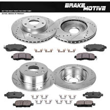 For 2002-2006 Nissan Altima Front Rear Drill Slot Brake Rotors+Ceramic Pads