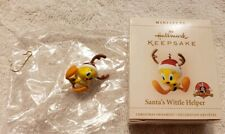 Hallmark Miniature Ornament Looney Tunes Tweety Bird, Santa's Wittle Helper, Nib
