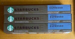 Starbucks Espresso Roast Nespresso Coffee 30 Pods Capsules BB 7/9/2020