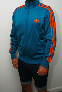 Men's Adidas Firebird Track Jacket Blue-Orange Medium - 2012