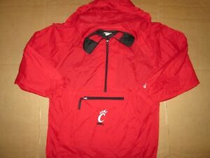 Boys ADIDAS UC CINCINNATI BEARCATS nylon half zip windbreaker  jacket XL 18 - 20