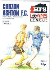 Curzon Ashton v Worksop Town 1991/2 HFS Cup Semi