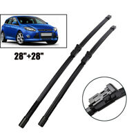 Pair Windscreen Flat Wiper Blades Front Window Fit For Ford Focus MK3 2012 on
