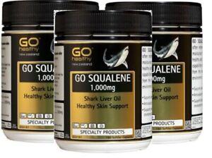 Go Healthy NEW ZEALAND GO SQUALENE 1,000mg 180 Capsules (3 packs)