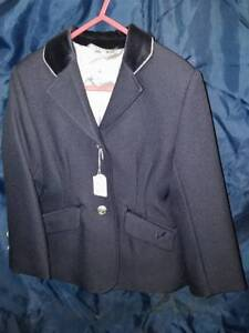 """Equetech Junior Oxford In-Vent Competition Jacket - Navy - Size 24"""""""