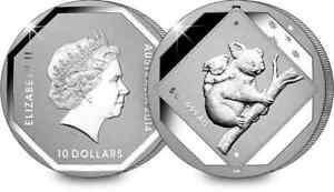 2014 Australian Koala Road Sign $10 Reverse Frosted .999 fine Silver 5 oz coin