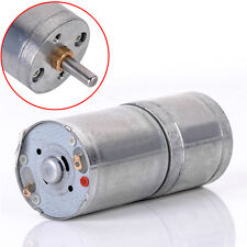 12V DC 60RPM Powerful High Torque Electric Gear Box Motor Speed Reduction 25mm