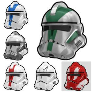 Custom COMMANDER HELM for Minifigures -Pick Color!- Star Wars -Arealight