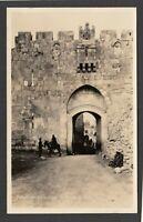 Postcard Palestine Middle East Jerusalem view of St Stephen's Gate RP