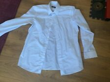 Next Mens Size 16 and a half (42cm) Neck Smart slim fit White Long Sleeve Shirt