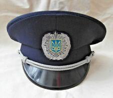 Police cap Ukrainian militia uniform hat size 55