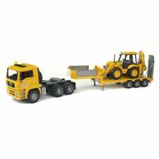 BRUDER MAN TGA Low Loader Truck with JCB Backhoe Loader - Yellow (02776)
