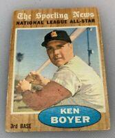 1962 Topps # 392 Ken Boyer Sporting News All Star St. Louis Cardinals
